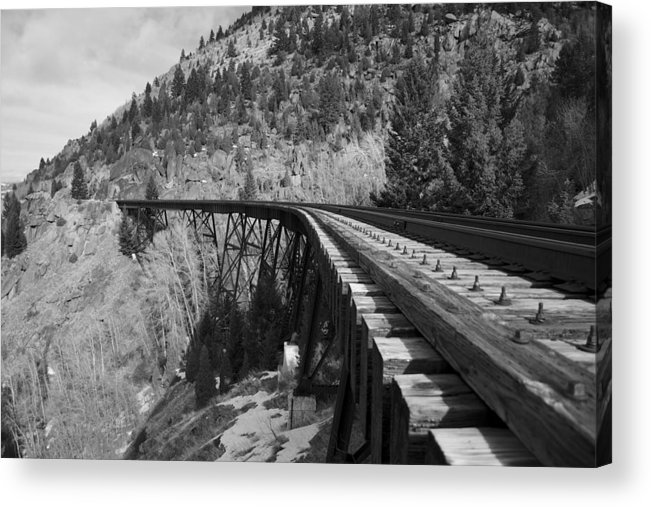 Train Trestle Framed Prints Acrylic Print featuring the photograph Train Trestle 1 by Kevin Bone