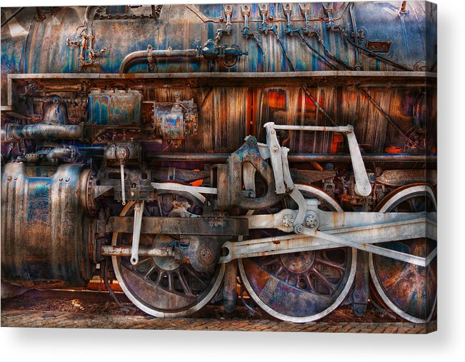 Savad Acrylic Print featuring the photograph Train - With Age Comes Beauty by Mike Savad