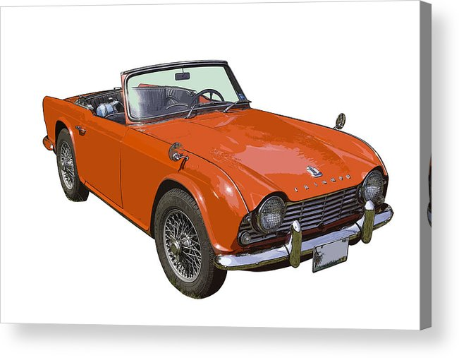 Triumph Tr4 Acrylic Print featuring the photograph Triumph Tr4 - British - Sports Car by Keith Webber Jr