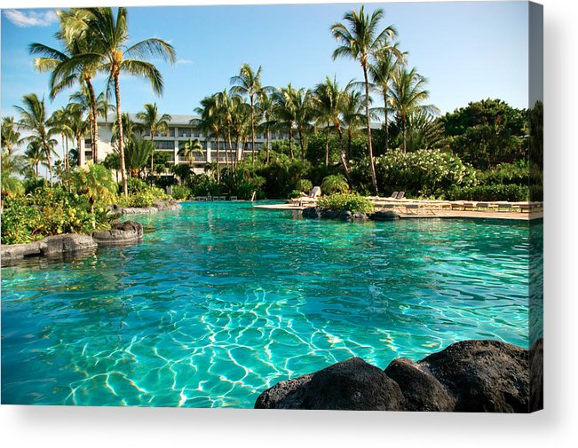 Tropical Hotel Resort Swimming Pool Hawaii Acrylic Print
