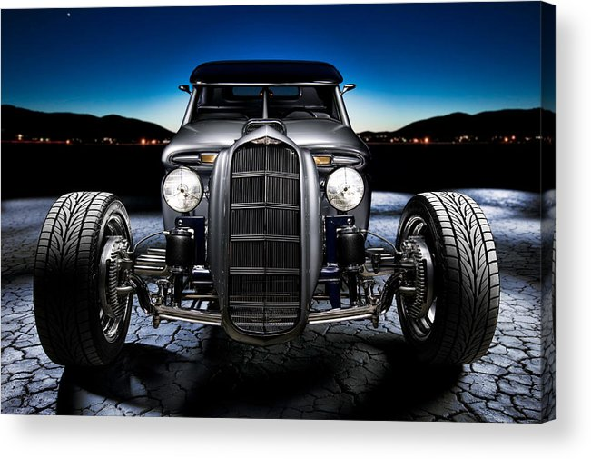 Car Acrylic Print featuring the photograph Millers Chop Shop 1964 Truckster Frontend by Yo Pedro