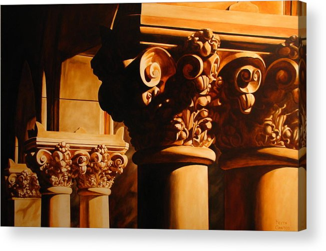 Corinthian Columns Acrylic Print featuring the painting Turn Of The Century by Keith Gantos