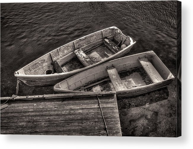 Boats Acrylic Print featuring the photograph Two Boats by Fred LeBlanc