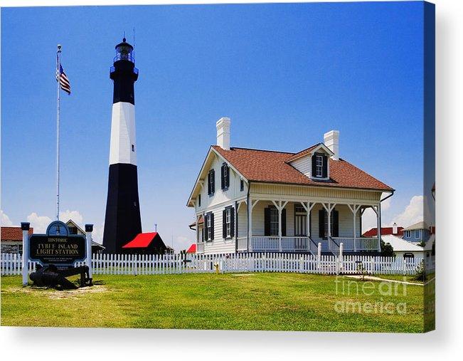 Lighthouse Acrylic Print featuring the photograph Tybee Island Light by David Davis