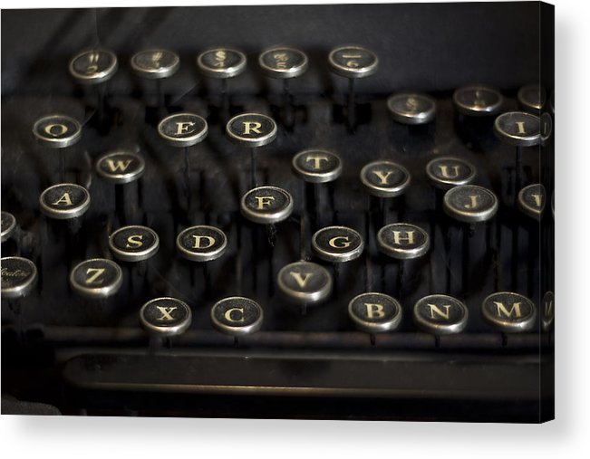 Keys Acrylic Print featuring the photograph Typewriter Keys by Jessica Berlin