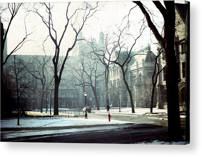 University Of Chicago Acrylic Print featuring the photograph University Of Chicago 1976 by Joseph Duba