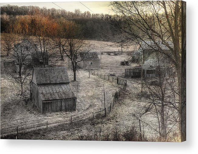 Up A Holler Acrylic Print featuring the digital art Up A Holler by William Fields