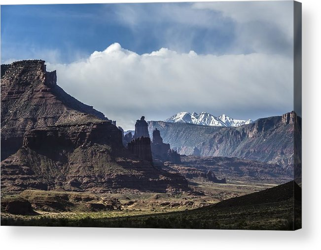 Utah Acrylic Print featuring the photograph Utah Landscape by RiverNorth Photography