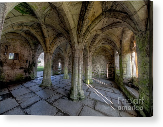 Abbey Acrylic Print featuring the photograph Valle Crucis Chapter House by Adrian Evans