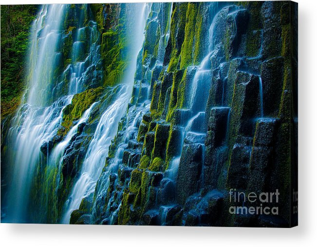 America Acrylic Print featuring the photograph Veiled Wall by Inge Johnsson
