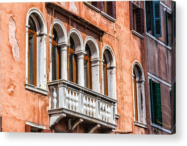 Italy Acrylic Print featuring the photograph Venetian Houses In Italy by Francesco Rizzato