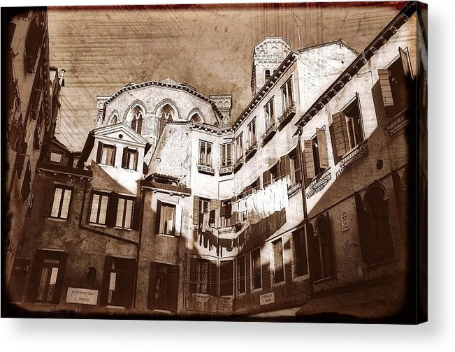 Venice Acrylic Print featuring the digital art Venice Old 1 by Monica Ghit