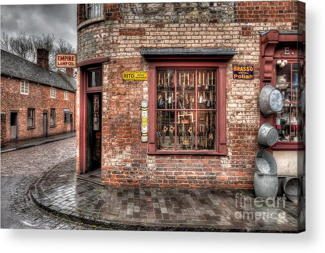 Architecture Acrylic Print featuring the photograph Victorian Corner Shop by Adrian Evans