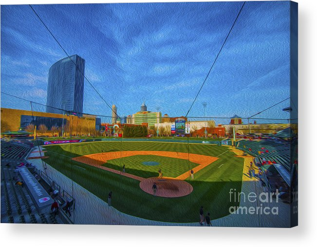 Victory Field Acrylic Print featuring the photograph Victory Field Home Plate by David Haskett