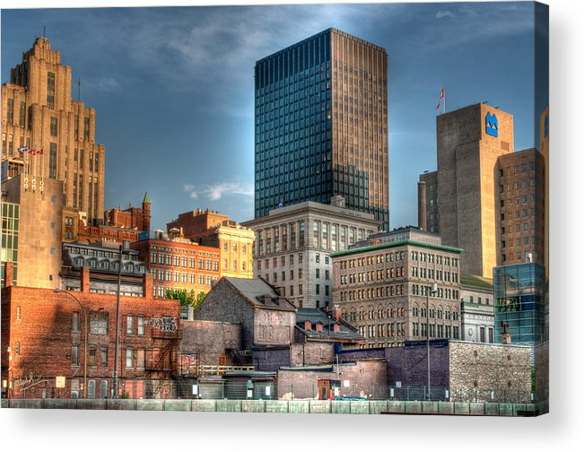 Old Acrylic Print featuring the photograph vieux Montreal by Elisabeth Van Eyken