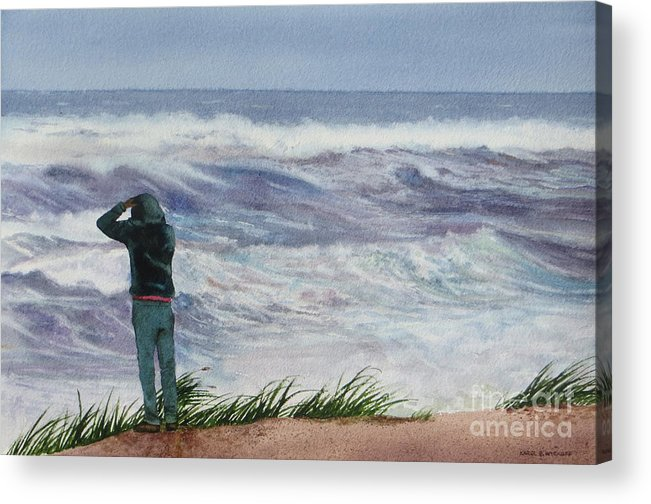 Sea Acrylic Print featuring the painting Viewing Nemo by Karol Wyckoff