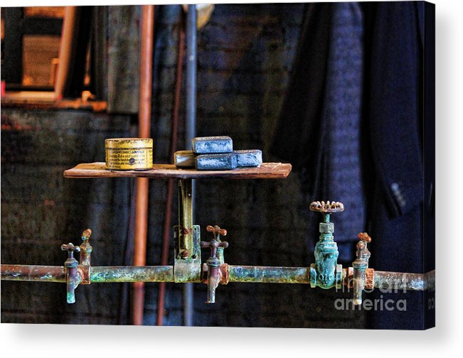 Paul Ward Acrylic Print featuring the photograph Vintage Factory Sink by Paul Ward