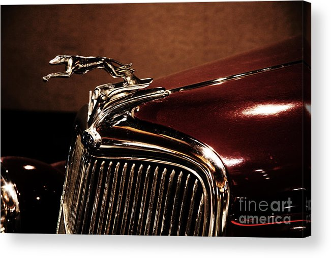 Hood Ornament Acrylic Print featuring the photograph Vintage Ford Hood Ornament by Christiane Schulze Art And Photography