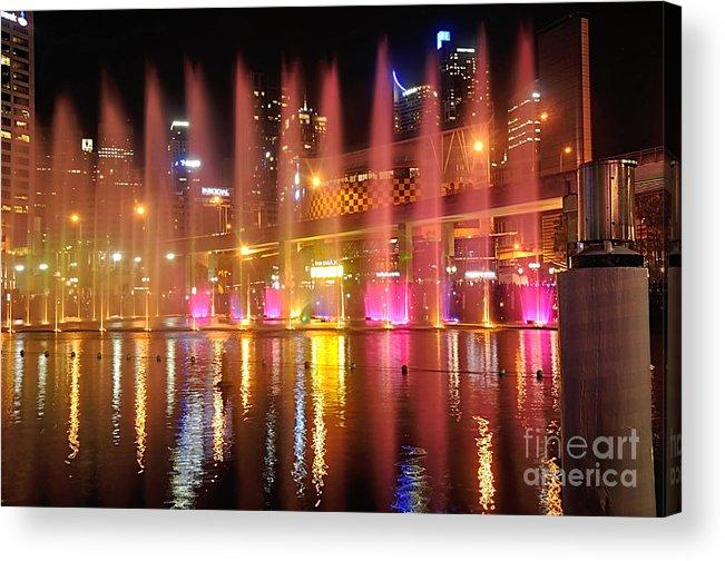 Photography Acrylic Print featuring the photograph Vivid Sydney By Kaye Menner - Vivid Aquatique by Kaye Menner