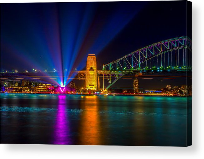 Sydney Acrylic Print featuring the photograph Vivid Sydney by Paradigm Blue