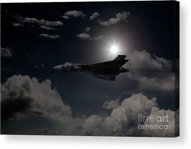Avro Acrylic Print featuring the digital art Vulcan Moon by J Biggadike