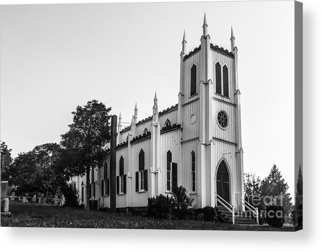 Church Acrylic Print featuring the photograph Waddell Memorial Church Founded 1874 by Debra K Roberts