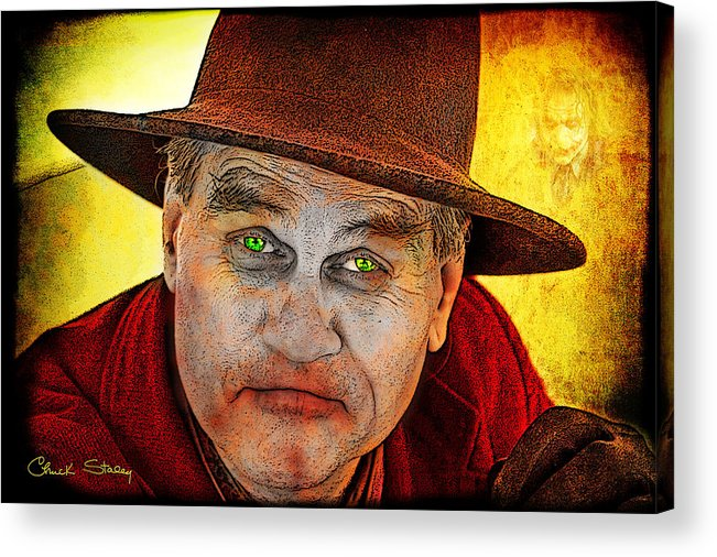 Evil Acrylic Print featuring the photograph Wanna Be Friends? by Chuck Staley