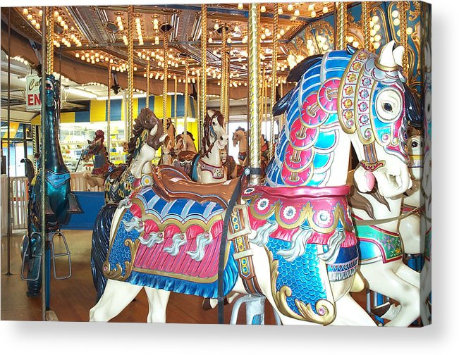 Carousel Horse Acrylic Print featuring the photograph Warrior by Barbara McDevitt