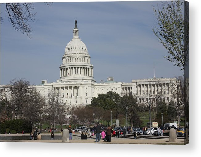 America Acrylic Print featuring the photograph Washington Dc - Us Capitol - 01135 by DC Photographer