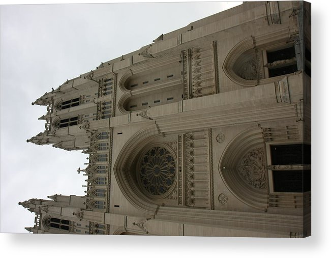 Alter Acrylic Print featuring the photograph Washington National Cathedral - Washington Dc - 011355 by DC Photographer