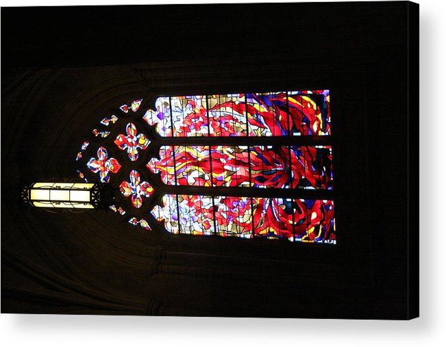 Alter Acrylic Print featuring the photograph Washington National Cathedral - Washington Dc - 011377 by DC Photographer