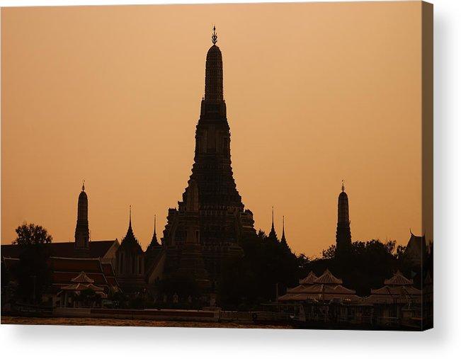 3scape Photos Acrylic Print featuring the photograph Wat Arun by Adam Romanowicz