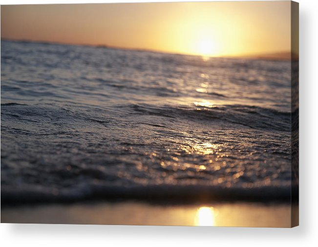 Brandon Tabiolo Acrylic Print featuring the photograph Water At Sunset by Brandon Tabiolo