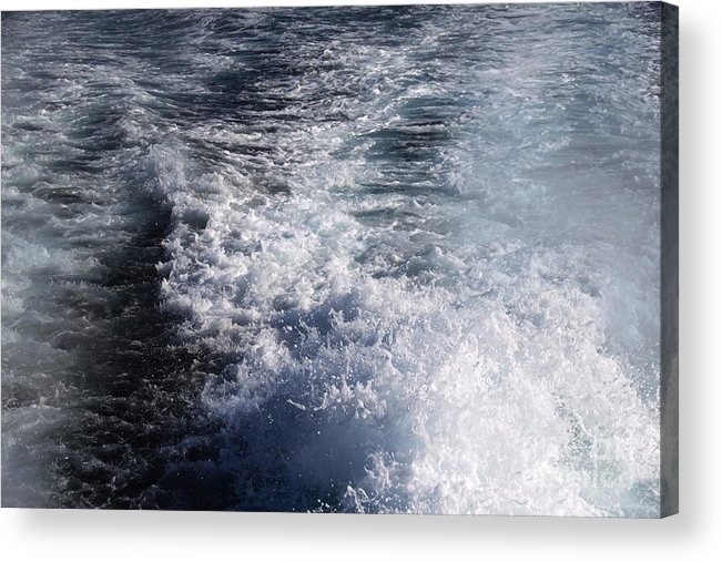 Ship Acrylic Print featuring the photograph Water Behind A Ship by Henrik Lehnerer