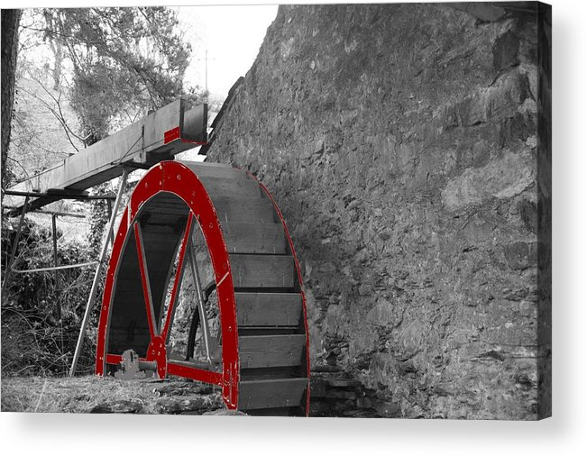 Water Acrylic Print featuring the photograph Water Wheel. by Christopher Rowlands