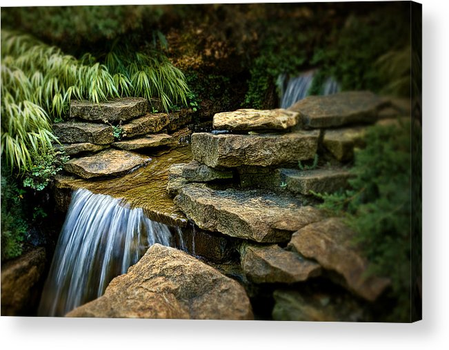 Cascade Acrylic Print featuring the photograph Waterfall by Tom Mc Nemar