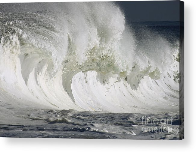 Beautiful Acrylic Print featuring the photograph Wave Whitewash by Vince Cavataio