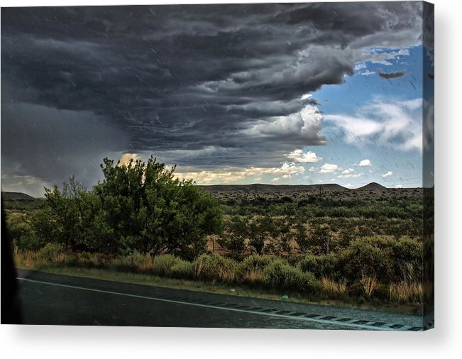 Storm Acrylic Print featuring the photograph West Texas Storm by Farol Tomson