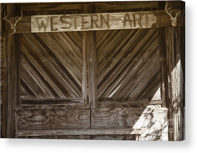 Barn Doors Acrylic Print featuring the photograph Western Art Barn Doors In Color 3003.02 by M K Miller