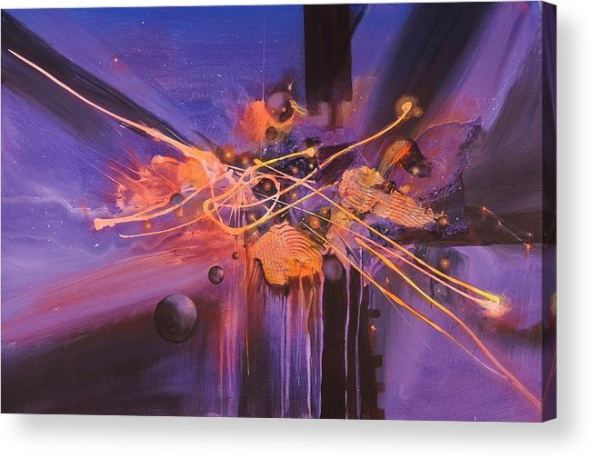Abstract Art Acrylic Print featuring the painting When Planets Align by Tom Shropshire