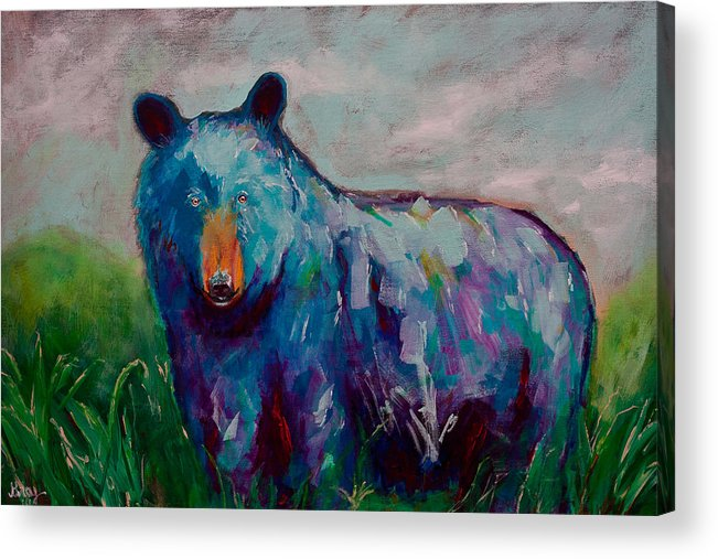 Whimsy Bear Painting Black Bear Brown Bear Wall Art Acrylic Print by ...