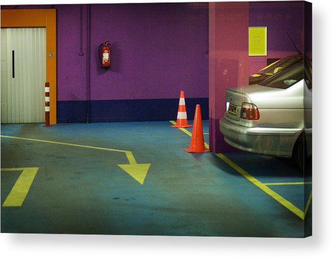 Garage Acrylic Print featuring the photograph Who Needs People ? by Michel Verhoef