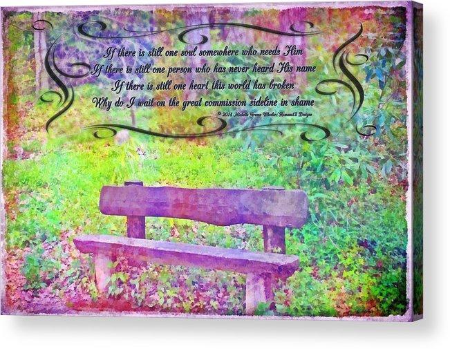 Jesus Acrylic Print featuring the digital art Why Do I Wait by Michelle Greene Wheeler