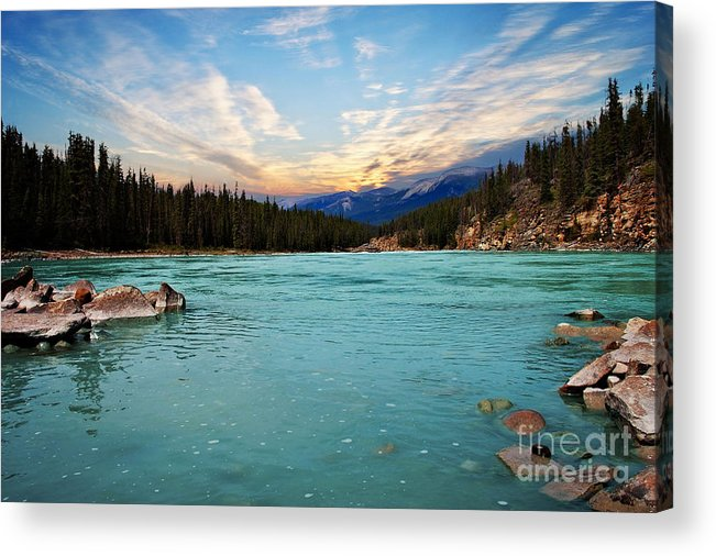 Lake Acrylic Print featuring the photograph Wilderness Lake by Elaine Manley