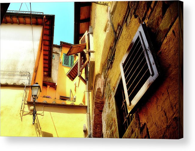 Scenic Acrylic Print featuring the photograph Window Shutters by James David Phenicie