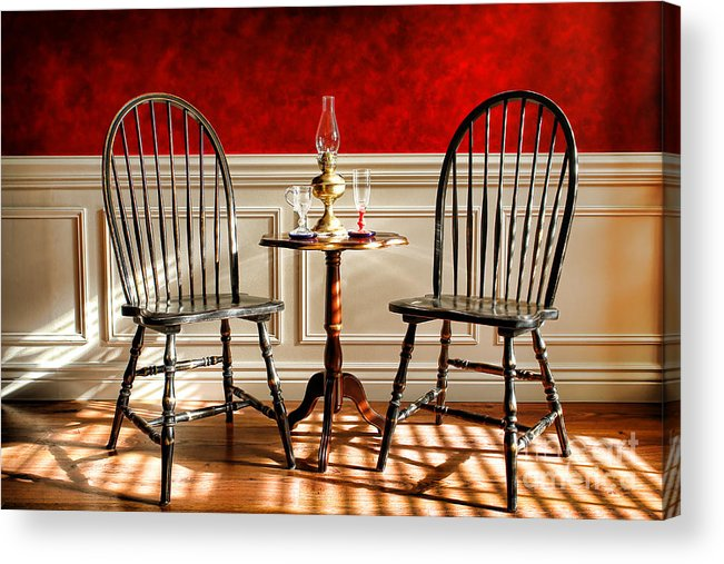 Windsor Acrylic Print featuring the photograph Windsor Chairs by Olivier Le Queinec