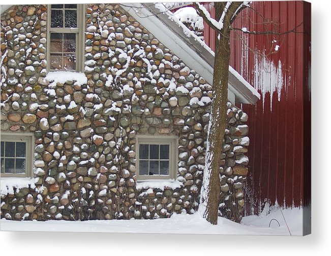 Winter Acrylic Print featuring the photograph Winter Stone Pattern by Randy Pollard