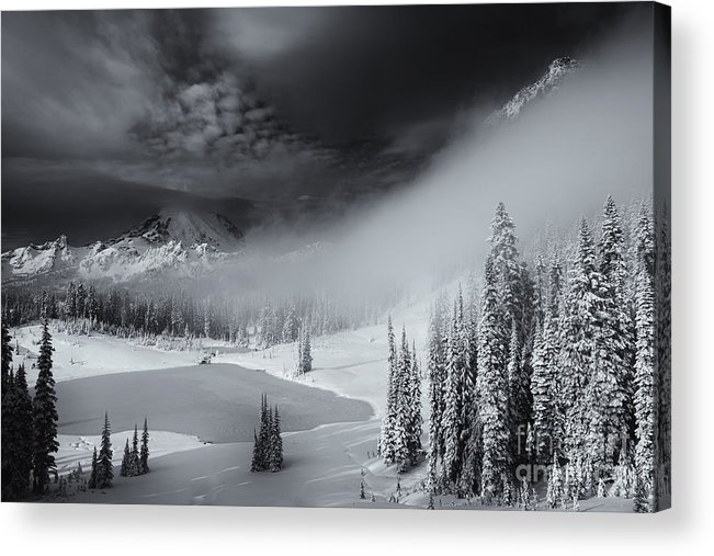 Winter Acrylic Print featuring the photograph Winter Storm Clears by Mike Dawson