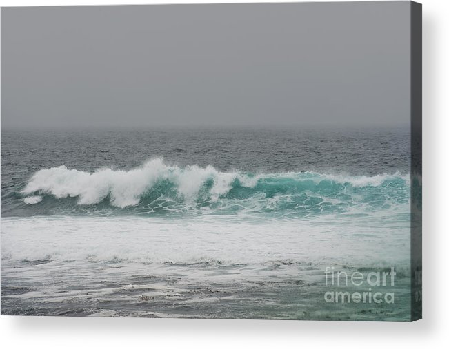 Waves Acrylic Print featuring the photograph Winter Waves by Artist and Photographer Laura Wrede