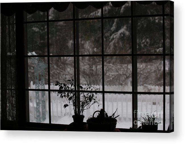 Reflection Acrylic Print featuring the photograph Winters Reflection by Linda Shafer